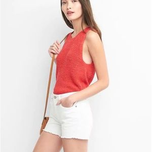 Gap Lace Up Back Sweater Tank Top NWT